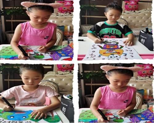 昌图县十八家子镇中心小学暑假绘画实践活动