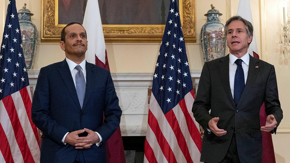 布林肯将就阿富汗问题与卡塔尔会谈