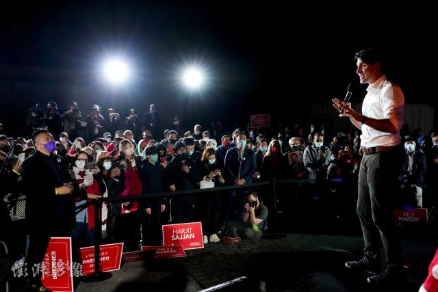 加媒最新预测:特鲁多将赢得第三任期