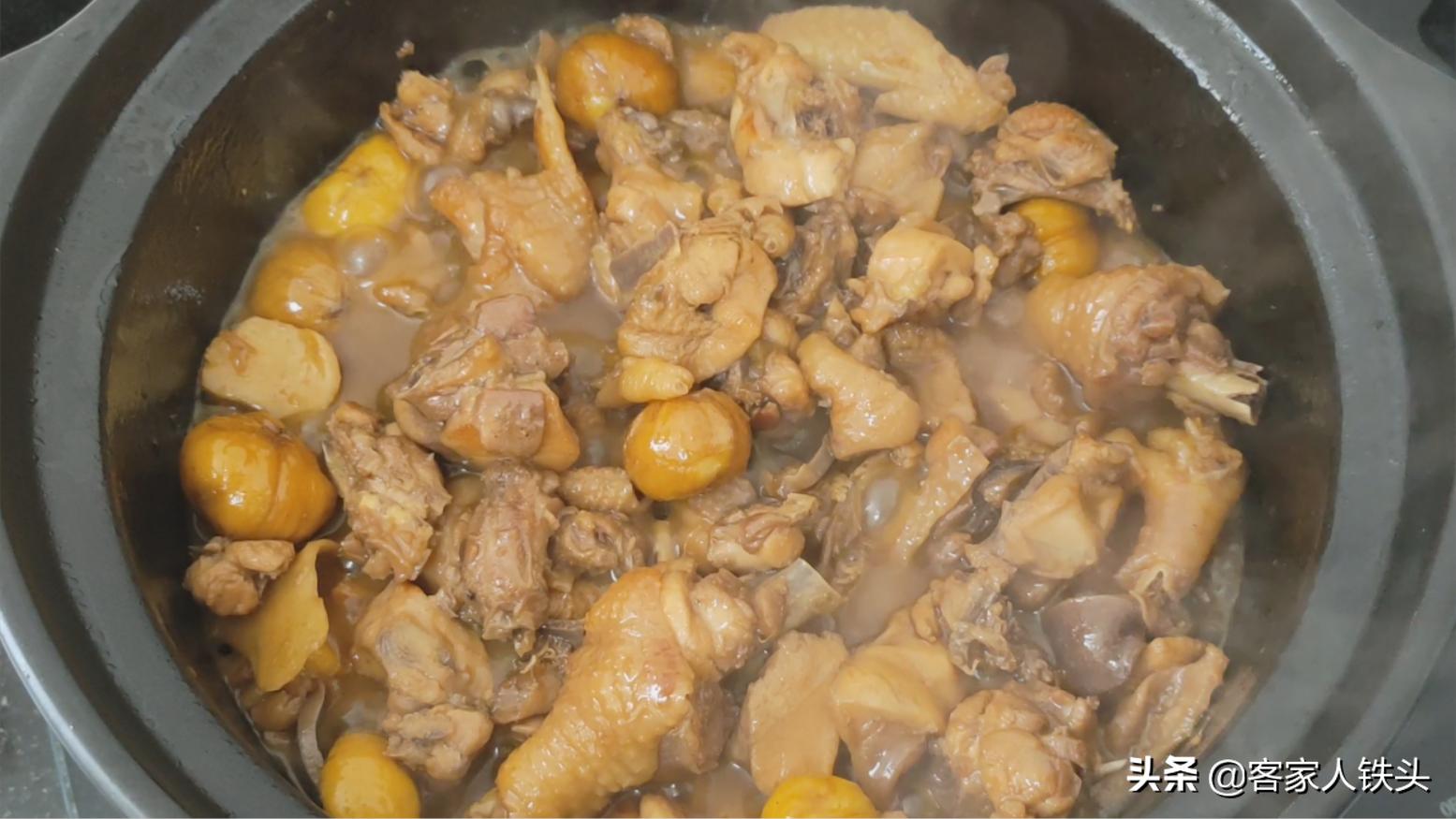 4斤雞,以後待客不白切了,加1斤板栗這樣做,滋補好吃還超下飯