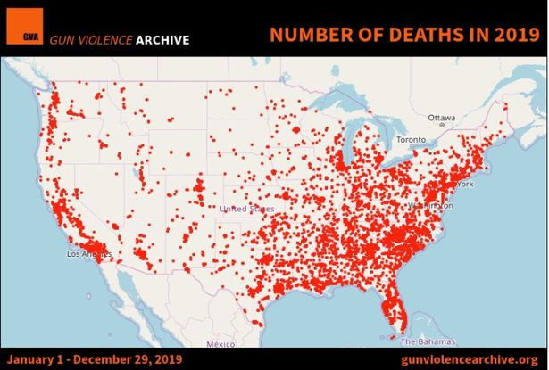 363天发生415起,今年美国枪击案数量创新高,近4万人惨遭不幸