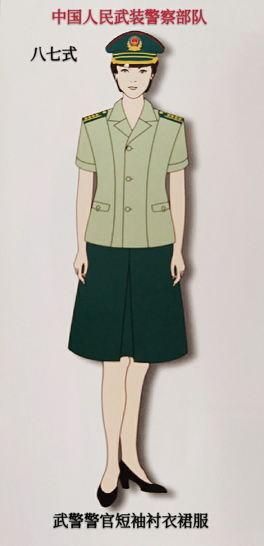 巾帼英雄中国女军(警)历年服装之二(图)