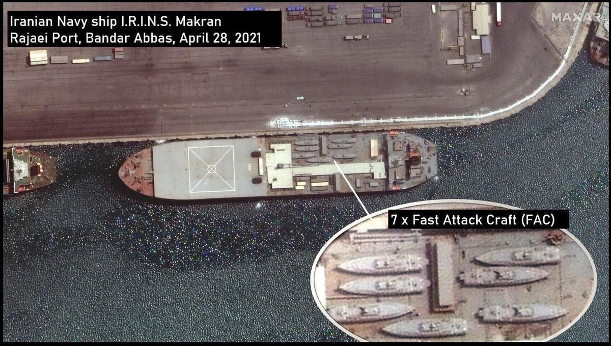 伊朗海上基地舰已经出港,7艘导弹艇甲板列阵,美媒:出口委内瑞拉