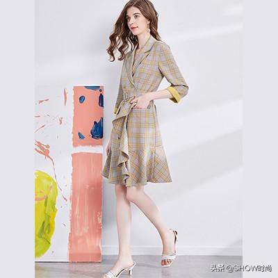初秋選擇這幾款西裝連衣裙,外穿內搭都好看,總有一款適合你