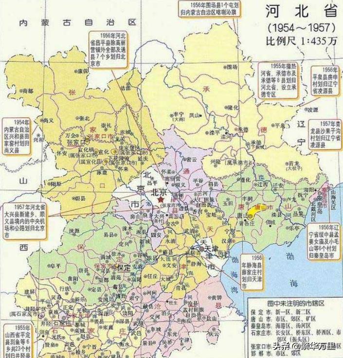 河北与天津区划调整,当年的6个县,为何分给了天津市?