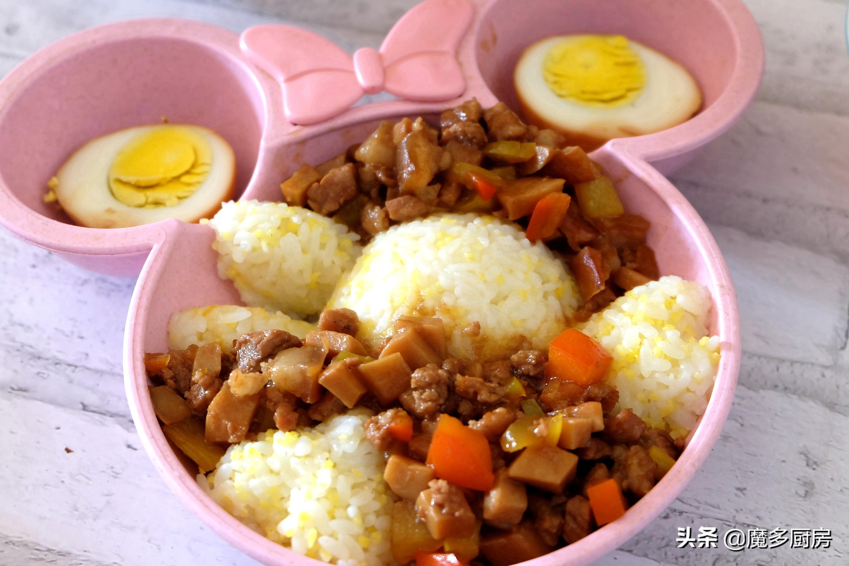 两个孩子的寒假午餐,零技能的卤肉饭,做法简单又好吃,省事了 美食做法 第2张