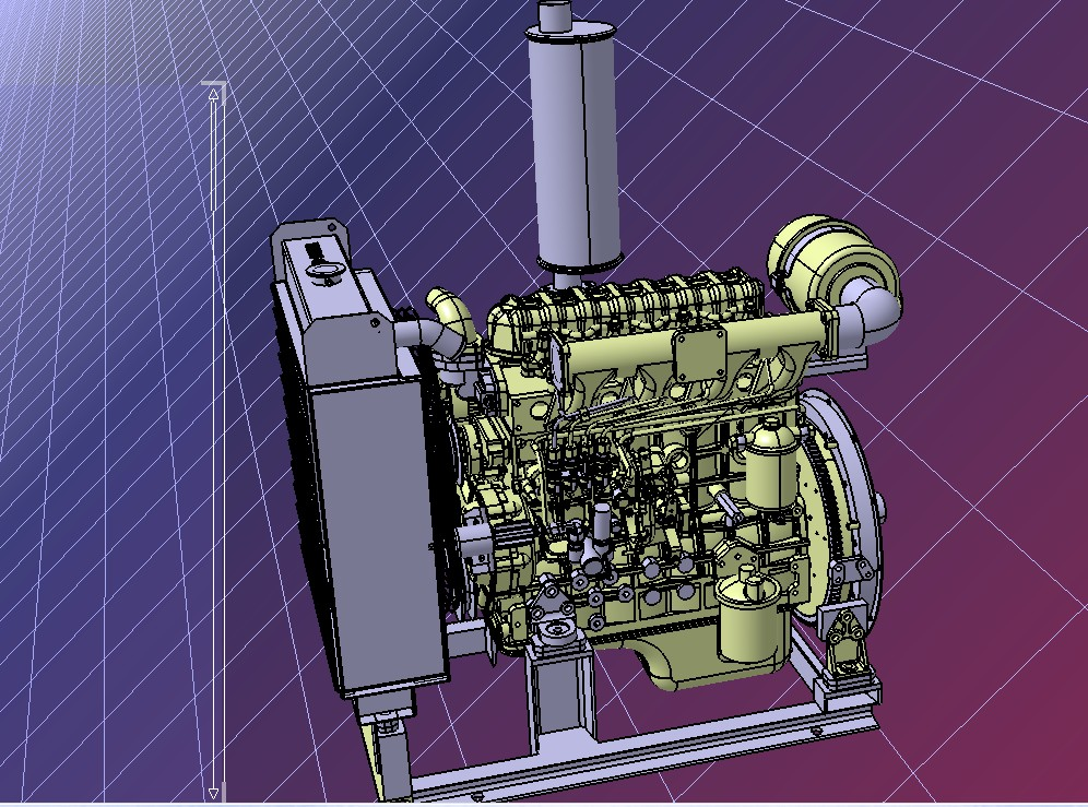 QC490柴油发动机模型3D图纸 STP格式