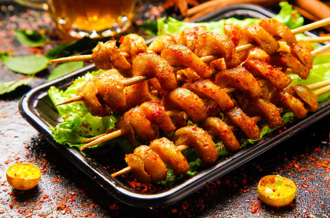 夜市美食——烤面筋,自己在家就能做 美食做法 第7张
