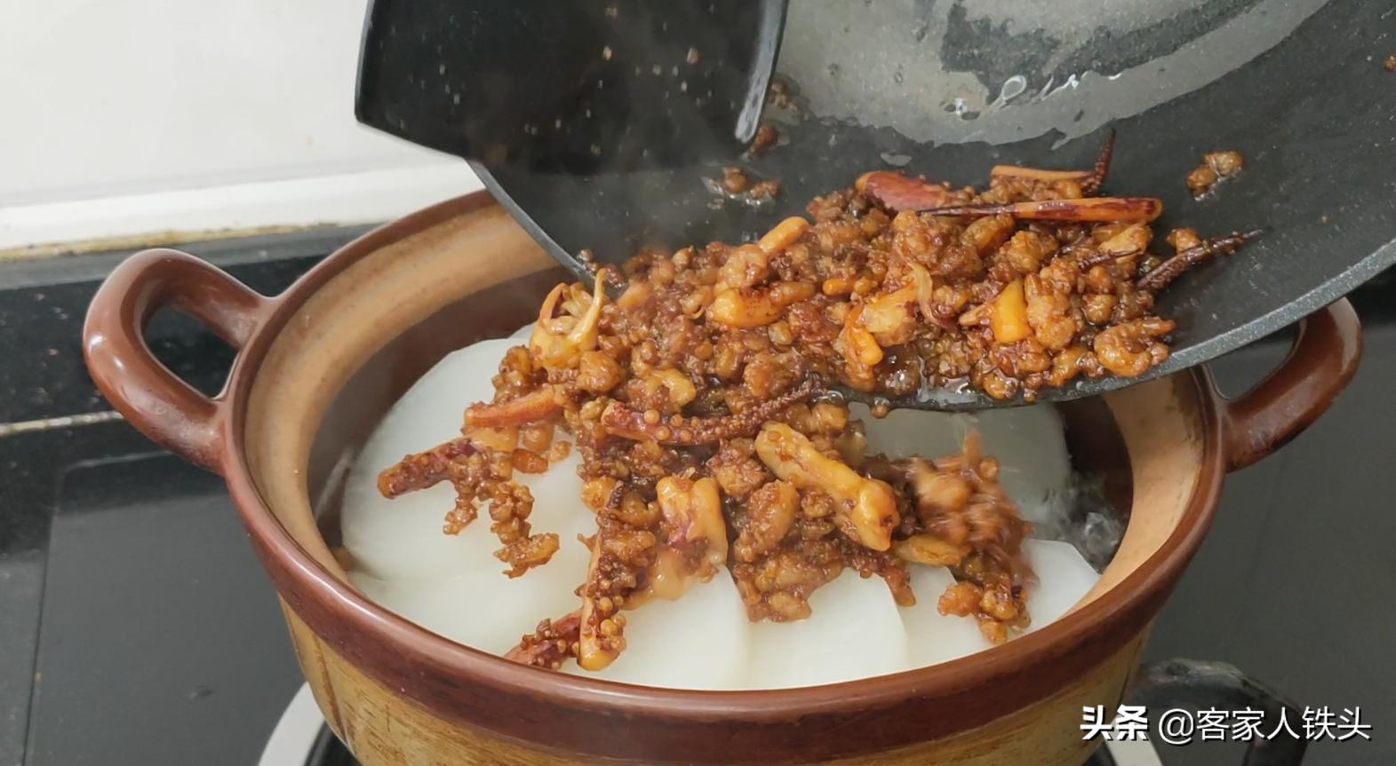 萝卜煲又有新吃法,这样做一锅,鲜香入味又好吃,上桌汁都吃不剩