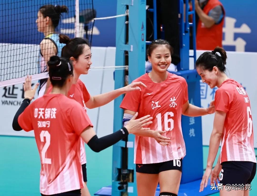 張常寧發扣攔全面發威,江蘇女排3比1上海奪五連勝,提前晉級四強