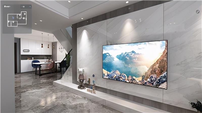 现代风格117㎡长沙明昇壹城装修全景效果图V2021070303