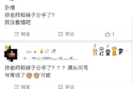 徐老师和裤子分手,引来网友热议:之前不是说快要结婚了吗?