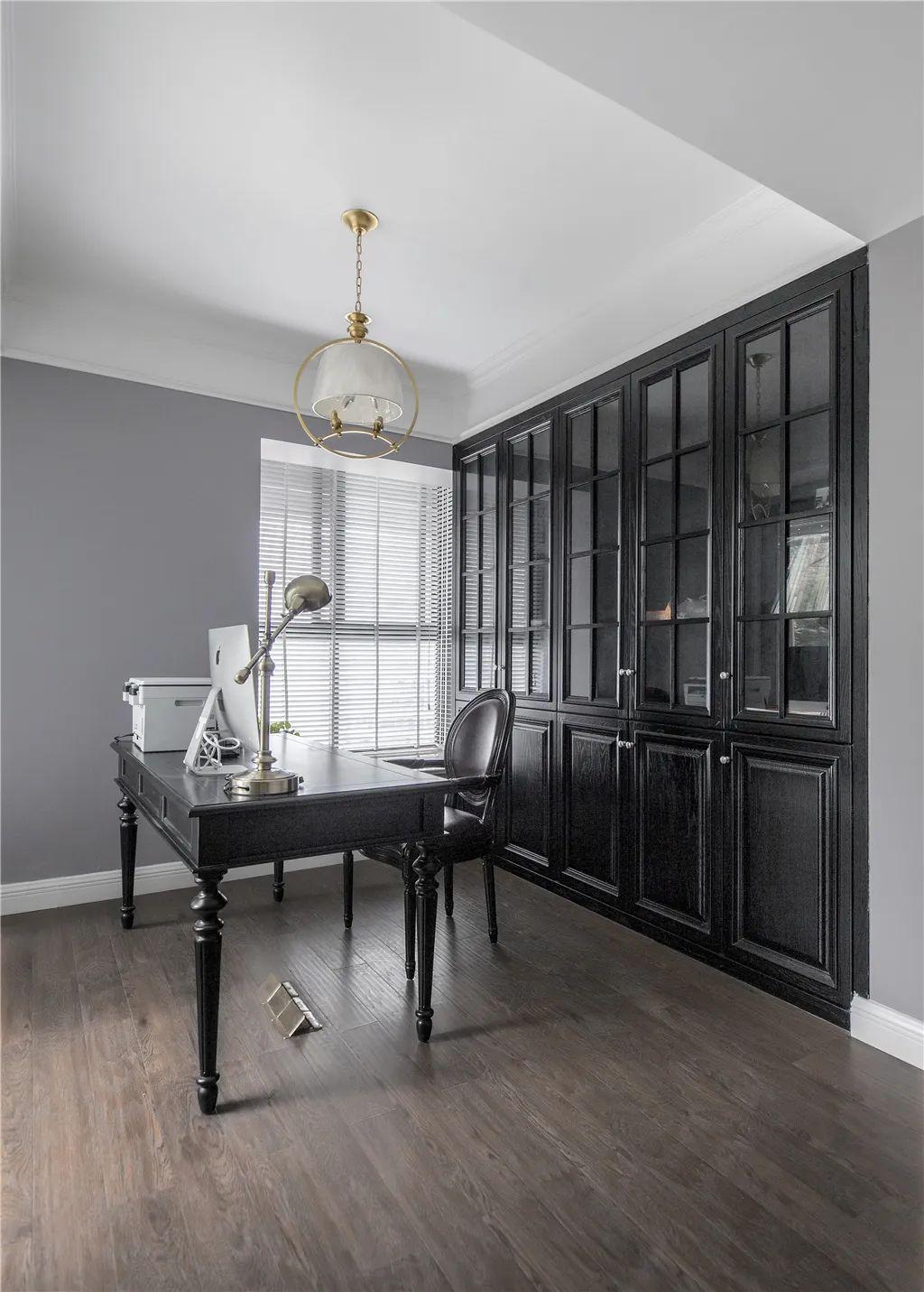 280㎡现代美式,灰紫色的空间,优雅线条边框,端庄华丽好气质