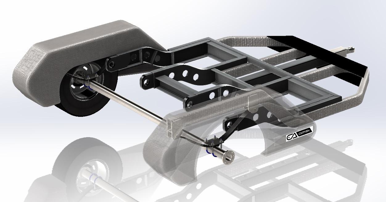 Catfish Trailer拖车结构3D图纸 Solidworks设计 附STEP