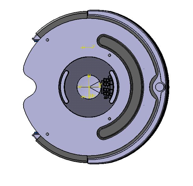 真空吸尘器清扫机器人3D数模图纸 CATIA设计 附IGS