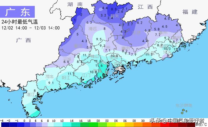 2019年的夏天真结束了!广东接近零度,海南岛最南端三亚已入秋