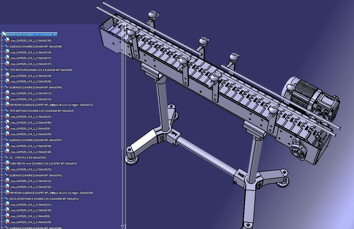 roufa输送链输送带模块3D图纸 STEP格式