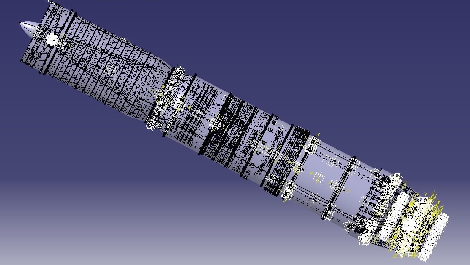 jem涡轮发动机3D数模图纸 STP格式