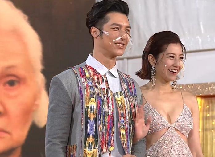 TVB颁奖礼红毯上演宫心计!女明星当众抢男伴,刘丹被搀扶上场