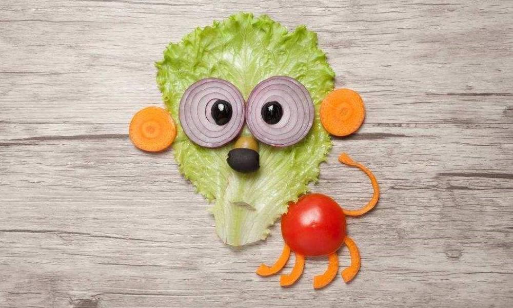 幼儿园亲子作业:用果蔬做动物,看到最后一个,网友:老师真有才 用果蔬做动物 第1张