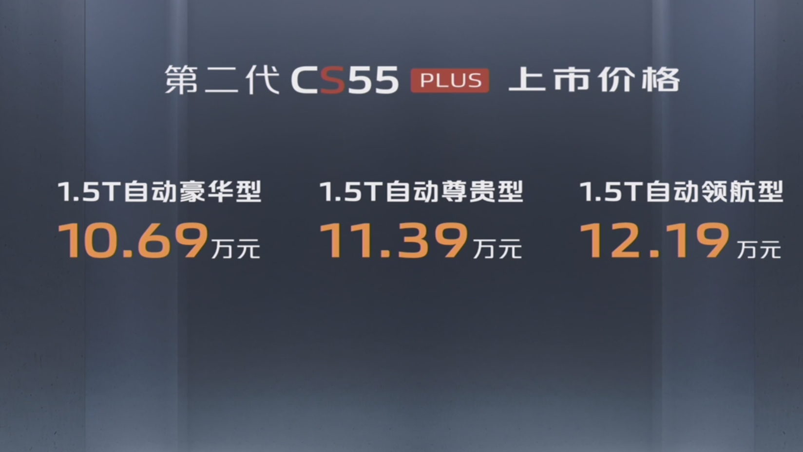 性价比全面提升,全新一代长安CS55 Plus上市售10.69-12.19万元