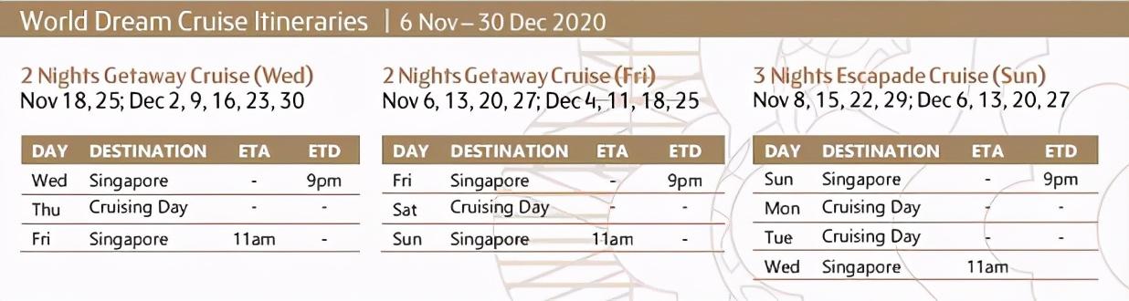 新加坡环岛游轮重磅开启!你最关心的出行时间、价格统统在这里