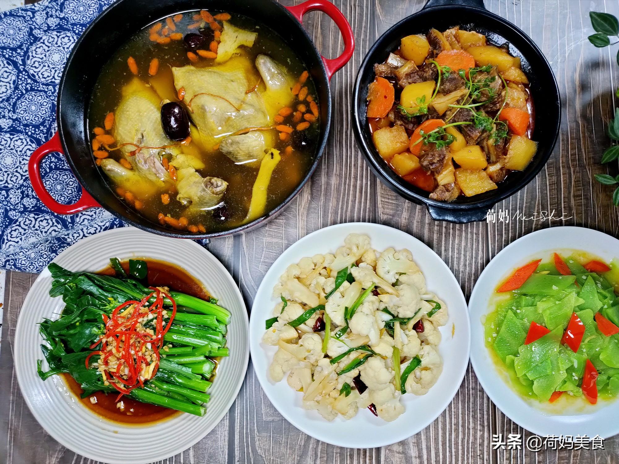 晒晒妈妈用心做的晚餐,四菜一汤真丰盛,简单家常、营养味美 美食做法 第1张