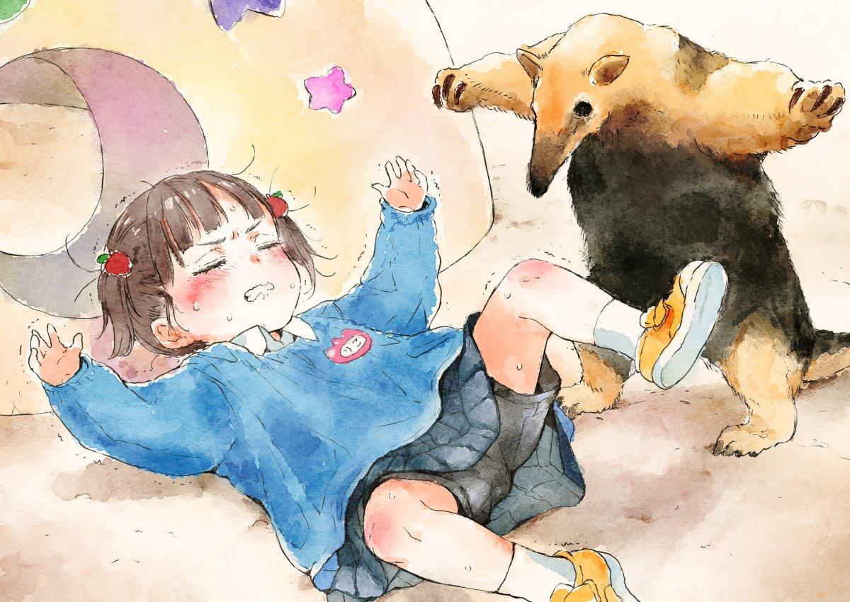 又一位日本畫師的作品火了,這組幼稚園女孩的日常插畫真的好可愛