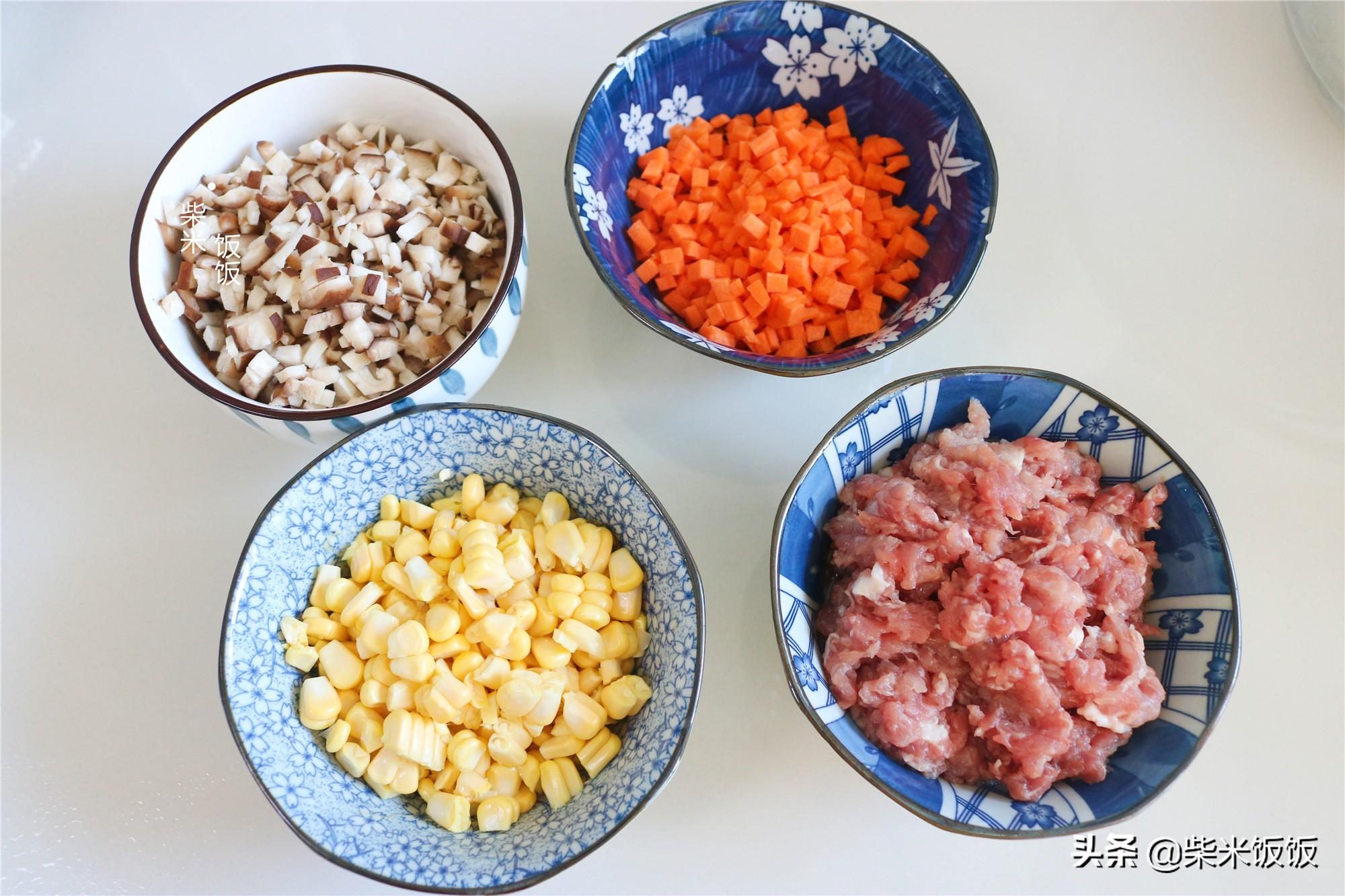 孩子点名要吃的烧麦,做法比饺子简单,一锅蒸33个,凉了也好吃 美食做法 第6张