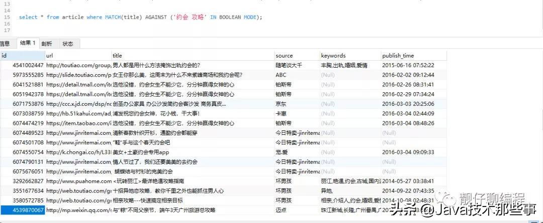 基于 Mysql 实现一个简易版搜索引擎