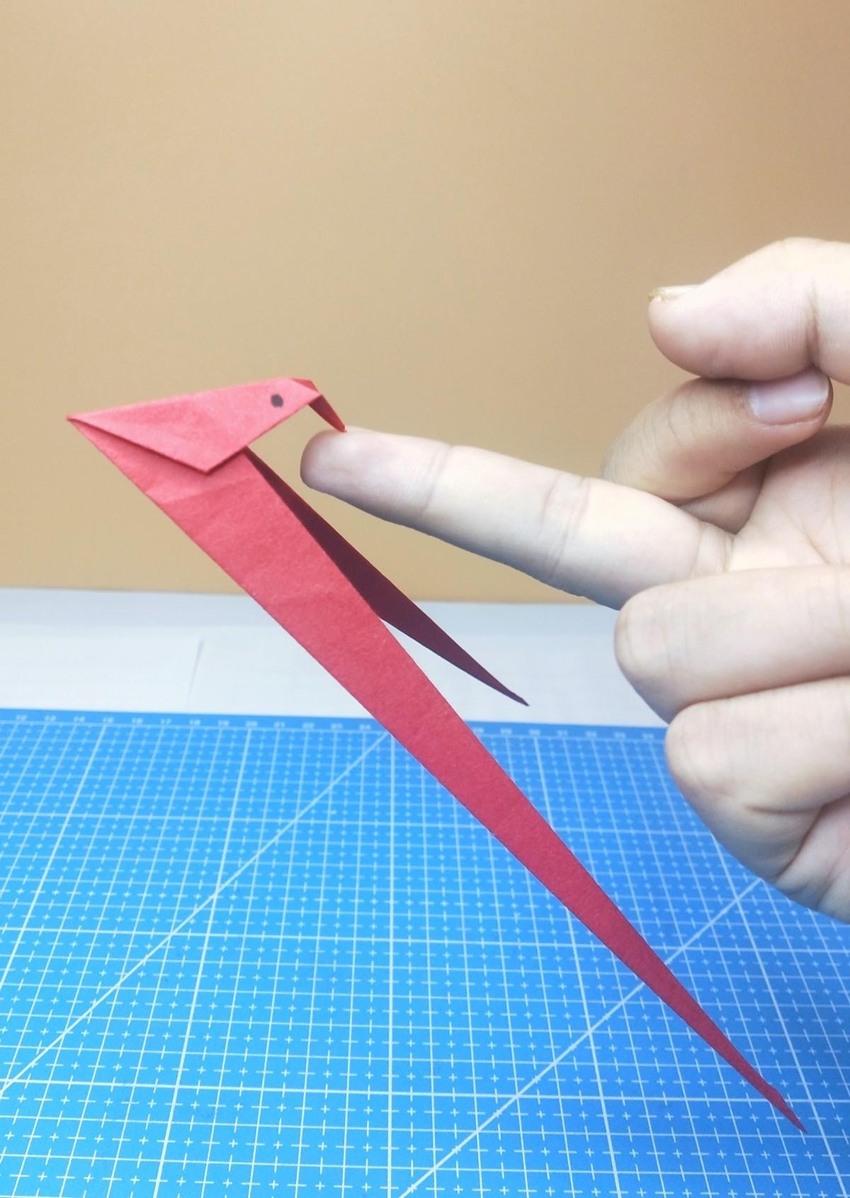 指尖上快乐——折纸平衡鸟教程分享