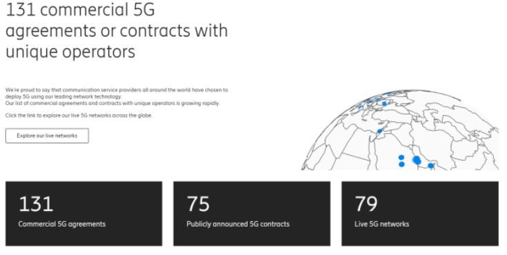 全球5G訂單份額諾基亞搶占第二,險勝華為,被第一拉開距離