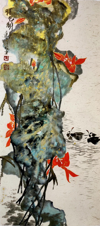 """""""猎艳""""——水歌花鸟画晋京展开幕,60余件精品力作亮相北京宋庄"""