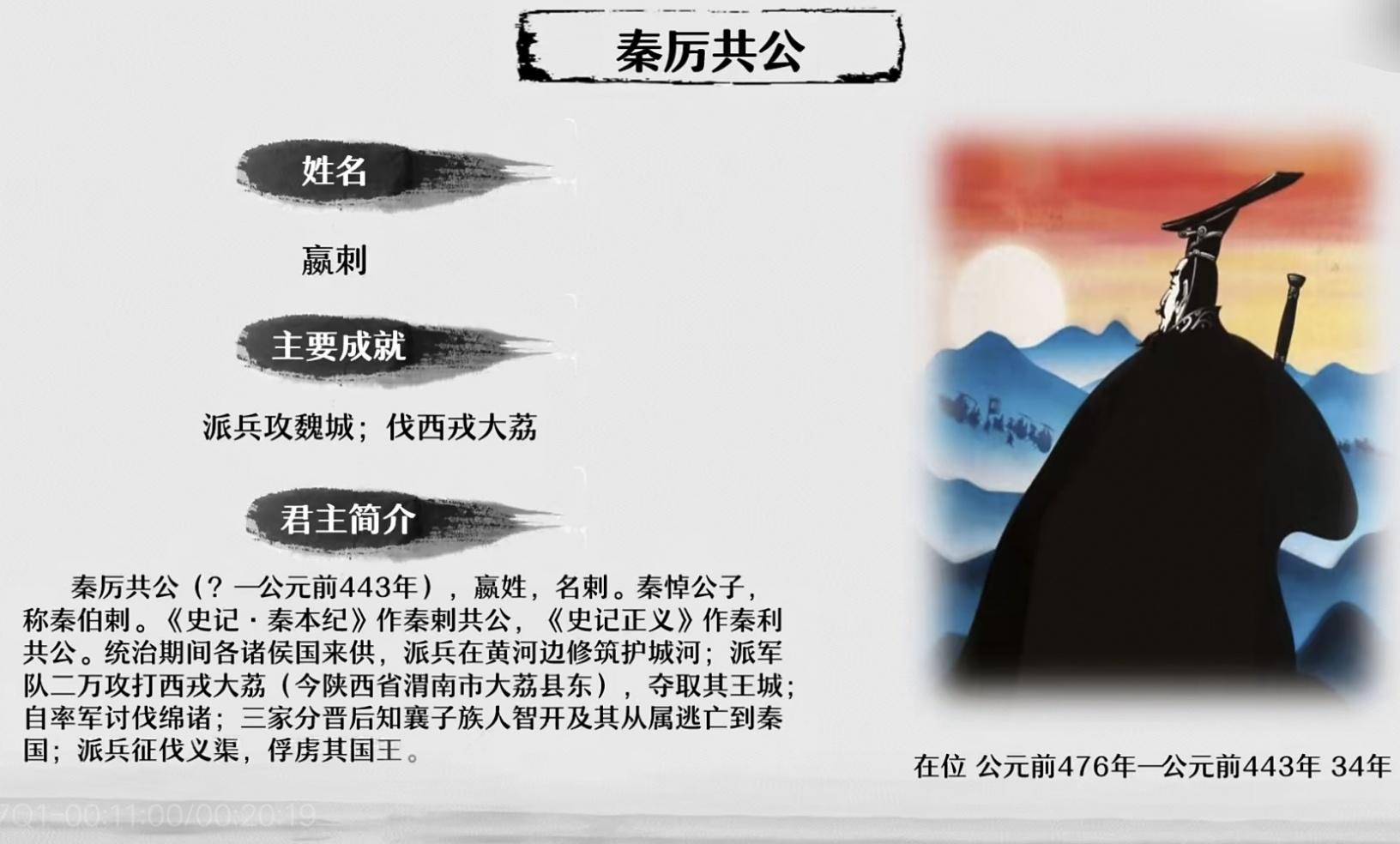 大秦历代君主全介绍