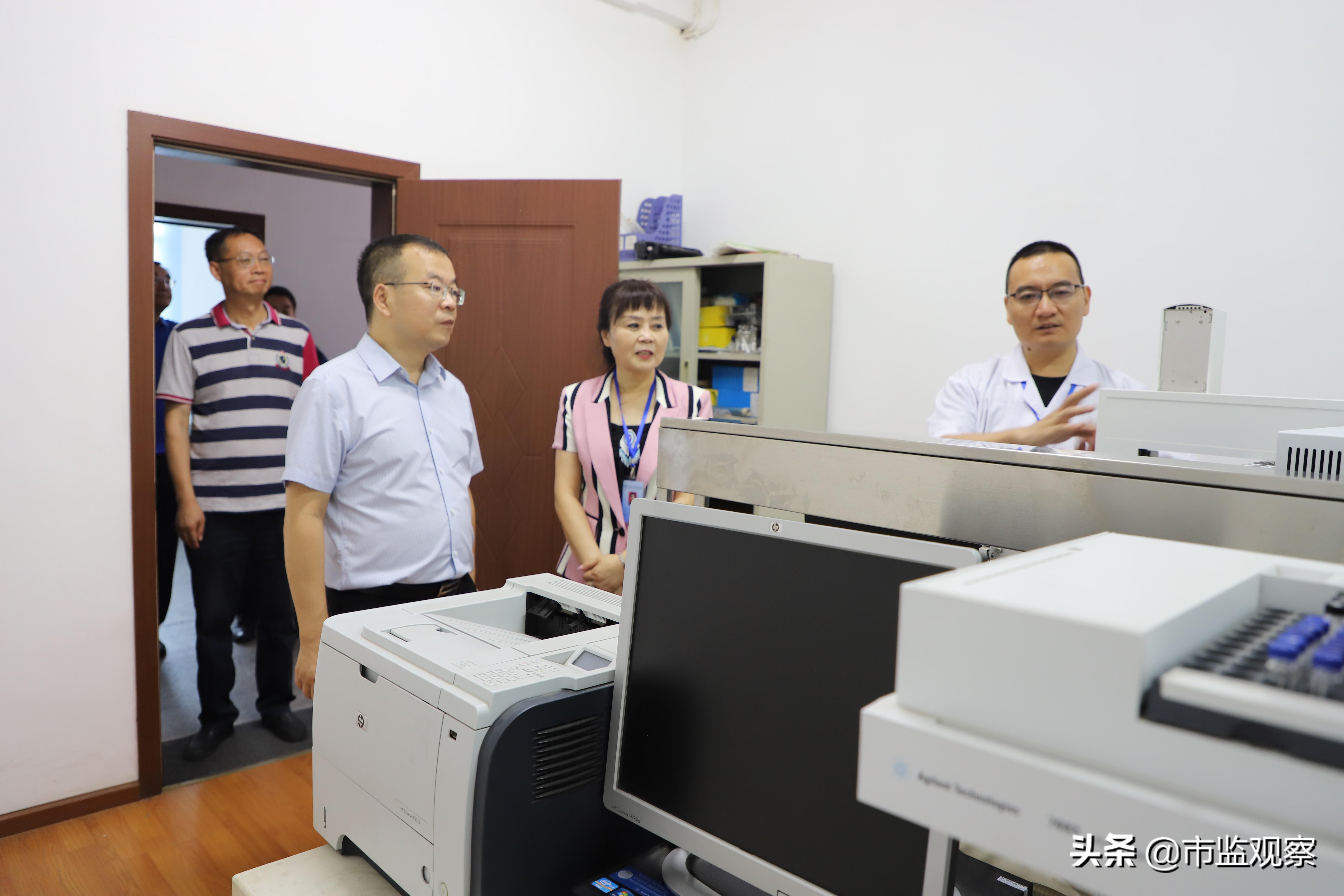 四川省纤维检验局调研德阳市纤维检验工作