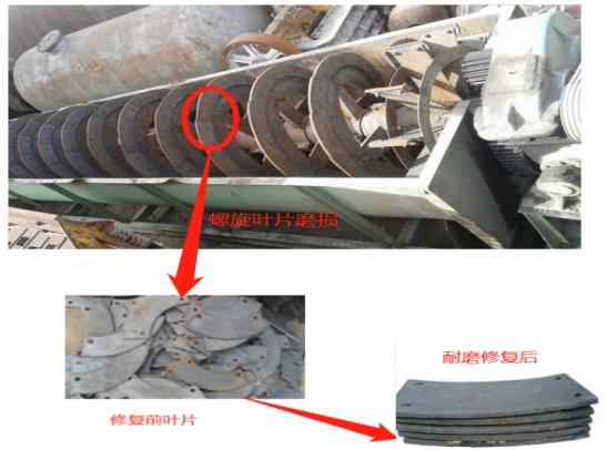 螺旋分级机底部、叶片磨损怎么办?RJ耐磨防腐涂层帮助您