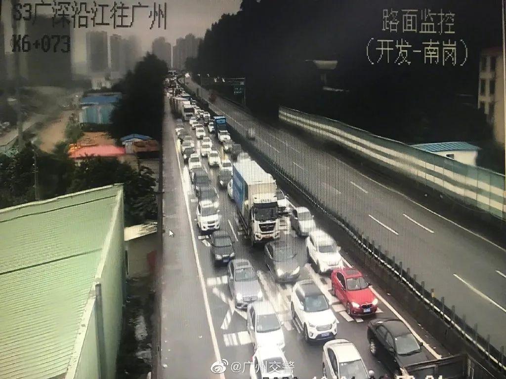 堵堵堵堵了一夜!广东高速有多红!有人一晚上才从广州到佛山