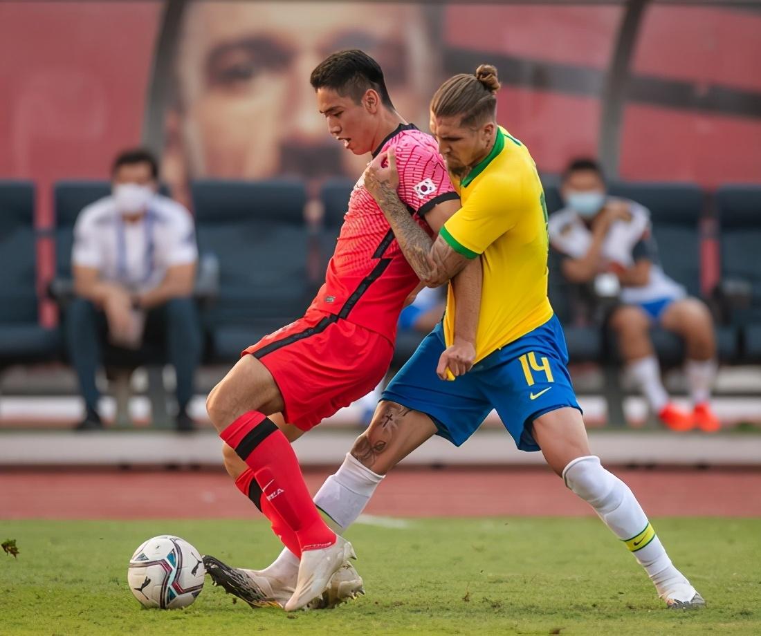 全线进攻1-3落败,韩国奥不敌巴西国奥却收获希望