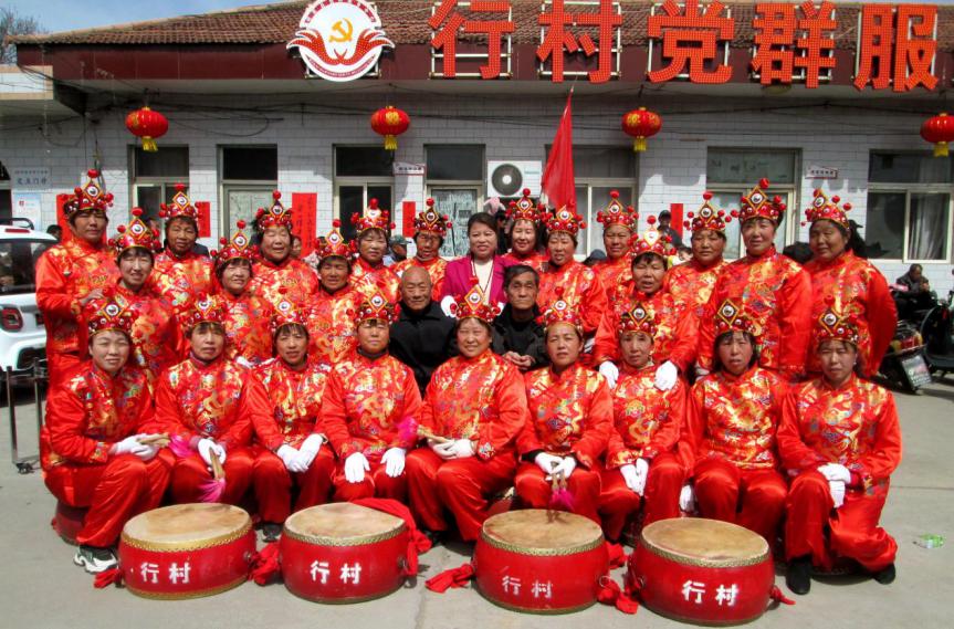 闻喜礼元镇行村二月初九传统庙会再现农村新气象