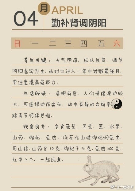中医养生:每个月的养生方式都会有不同哦,超全的养生知识,收藏 中医养生 第4张