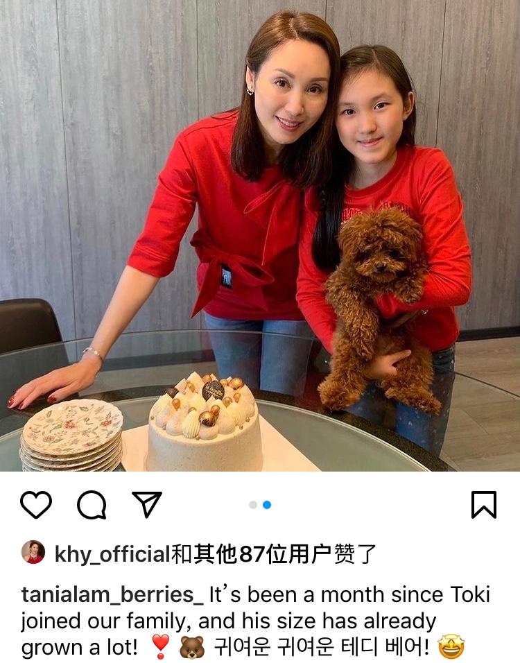 郭可盈和女兒穿同款造型似姐妹,11歲津津很有大家閨秀氣質