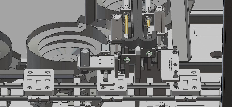 带气缸的直线输送系统3D数模图纸 STEP格式