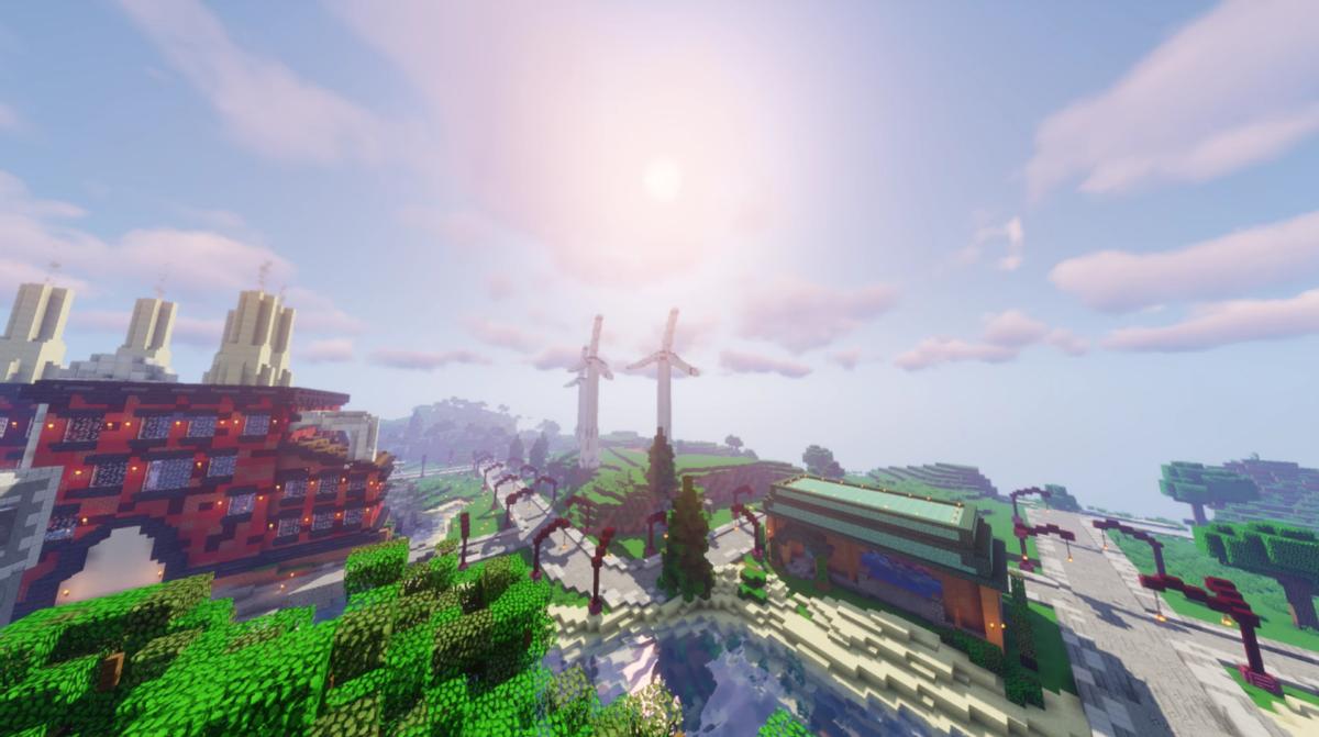 大神们的神奇脑洞《我的世界》花式风车建筑 哪个能让你大开眼界?