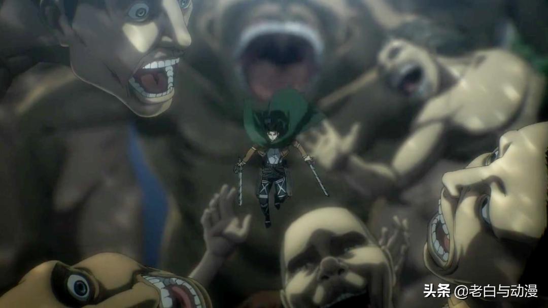 巨人最終季:吉克逃跑,兵長傻眼,第三次砍猴畫面來了
