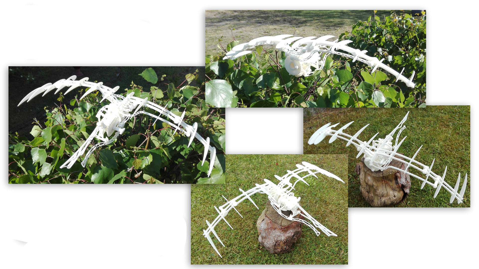 ornithopter仿达芬奇飞鸟机构扑翼机3D图纸 STEP x_t STL格式