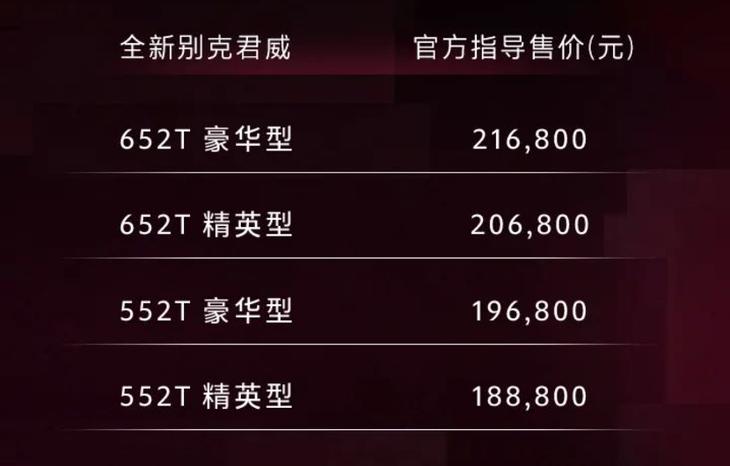 全新别克君威正式上市 售价18.88万元——21.68万元