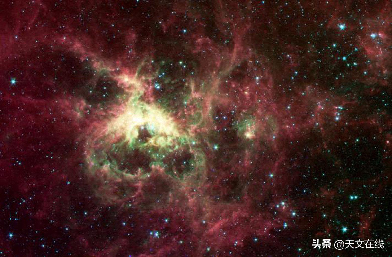 从斯皮策望远镜中看到的蜘蛛星云