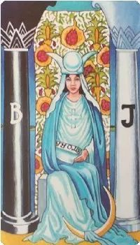 韦特塔罗牌义解析之2号牌-女祭司正位逆位牌意  第2张