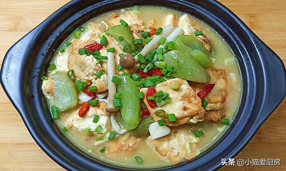 【丝瓜烧豆腐】做法步骤图 很适合热天吃 做法超级简单
