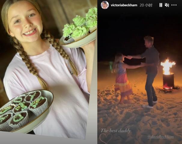 贝克汉姆9岁女儿秀厨艺,身材圆润又胖了一圈,口中牙齿参差不齐
